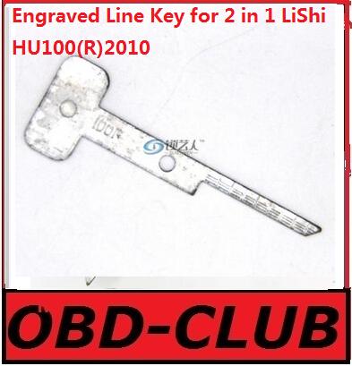 20pcs Original Engraved Line Key for 2 in 1 LiShi HU100(R)2010 scale shearing teeth blank car key locksmith tools supplies(China (Mainland))