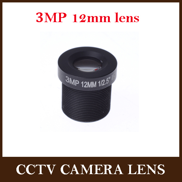 CCTV lens 12mm 3.0megapixel HD IR for HD cameras,M12*0.5,MTV Mount,F1.8,Fixed Iris for cctv camera ip camera(China (Mainland))