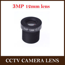 CCTV lens 12mm 3.0megapixel HD IR for HD cameras,M12*0.5,MTV Mount,F1.8,Fixed Iris for cctv camera ip camera (China (Mainland))