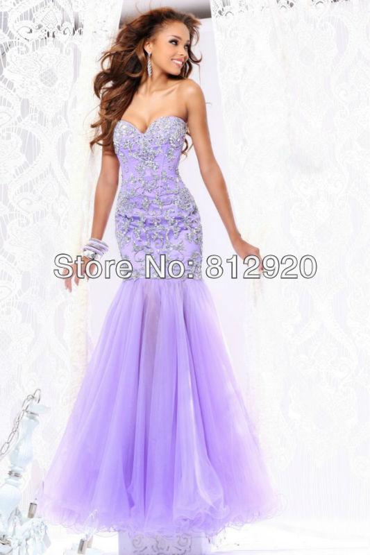 purple lace mermaid prom dress | Gommap Blog