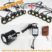 Promotion Super White Round DRL High Power 36W Eagle Eye DRL Shower Light 12 LED Daytime Running Light DRL 12V, Free Shipping(China (Mainland))
