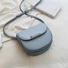 Mini Saddle Bag 2019 Nova Moda de Alta Qualidade PU de Couro Das Senhoras Designer de Bolsa de Viagem Simples Saco Do Mensageiro Do Ombro Para As Mulheres(China)