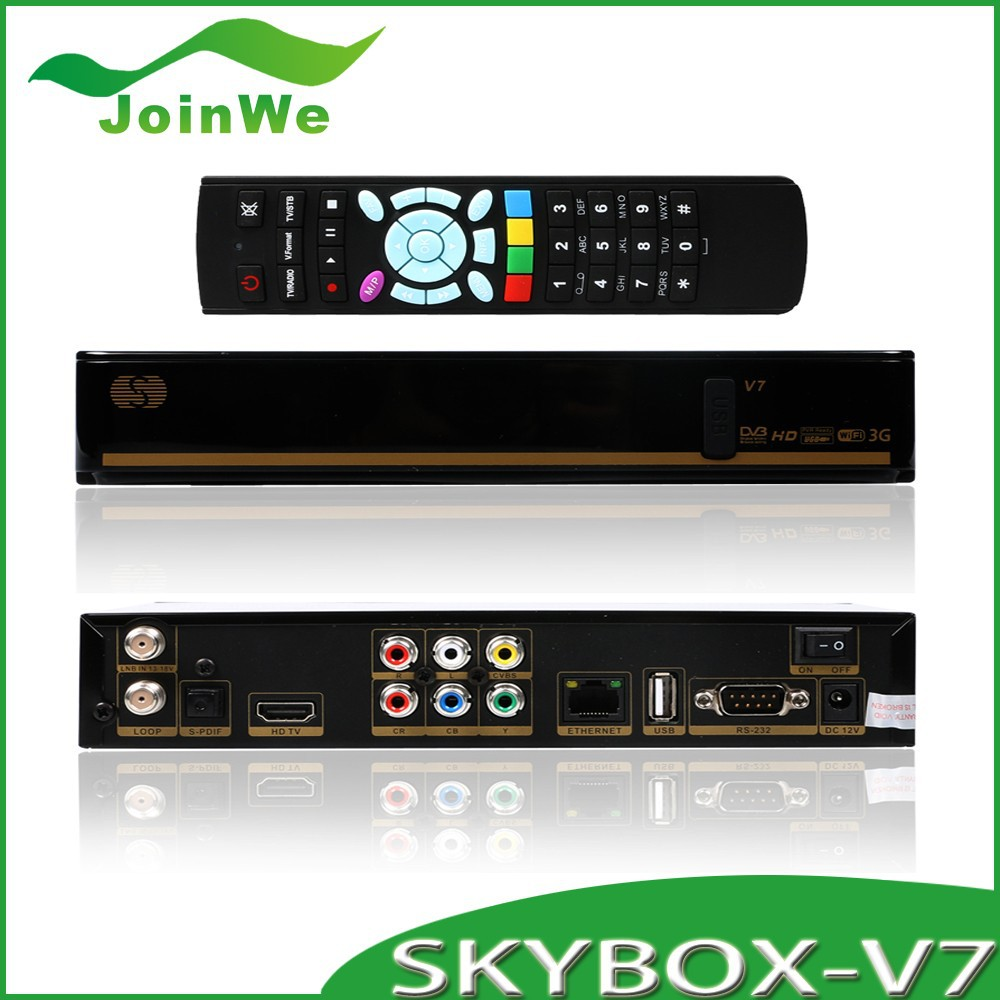 10pcs/lot Skybox V7 Digital Satellite Receiver S V7 S-V7 Dual-Core 600MHz MIPS Processor Free Shipping(China (Mainland))