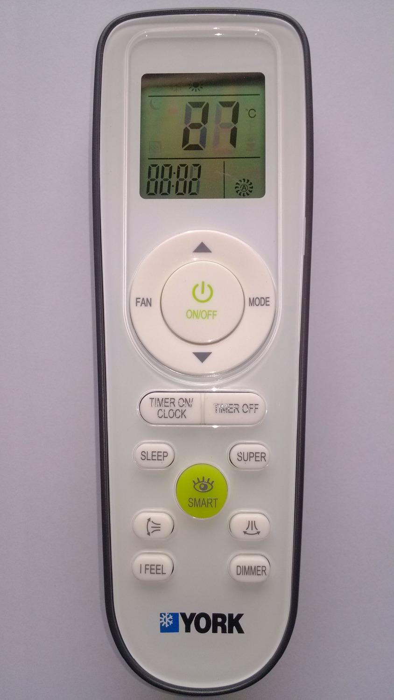 Control Remoto De Aire Acondicionado York Airea Condicionado