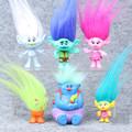 6pcs set 2016 Trolls Movie Dreamworks Figure Collectible Dolls Poppy Branch PVC Trolls Action Figures Doll