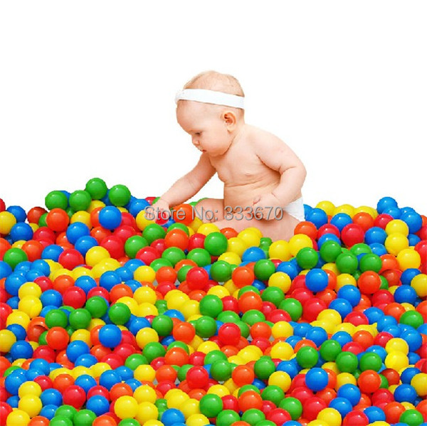 100Pcs/lot Colorful Durable Fun Ball Soft Plastic Water Pool Ocean Ball Baby Kids Toys Swim Pit Free Shipping(China (Mainland))