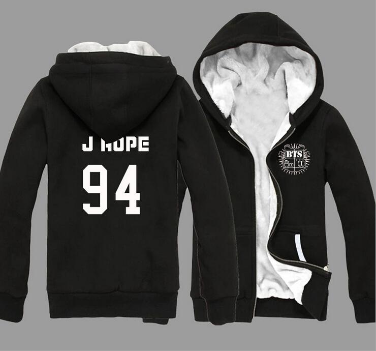 BTS Bangtan Boys Bulletproof Kpop Album Winter Sweatshirt Female Plus Velvet Long-sleeved Jacket Zipper Hooded BTS Jacket CoatОдежда и ак�е��уары<br><br><br>Aliexpress