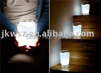 New Arrival wholesale Milk Glass Cup LED Night Light Lamp Gift night lighting free shipping
