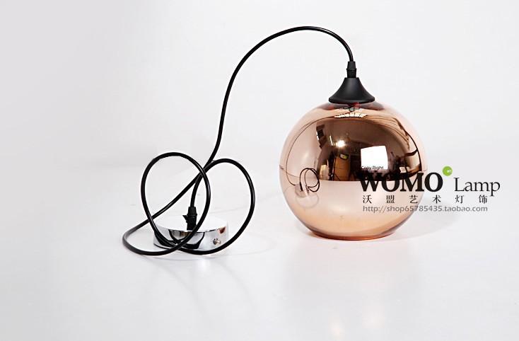 Free shipping Dia 15cm Modern Artistic Tom Dixon Bronze Copper Shade Glass Pendant Light Living Room Dining Room Light  E27 bulb<br><br>Aliexpress