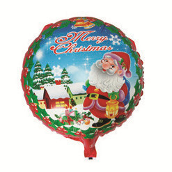 HAPPY TOGETHER Crafts Factory Wholesale 50pcs/lot Hot Sell New Arrival Christmas Santa Claus Round Inflatable foil Balloon(China (Mainland))