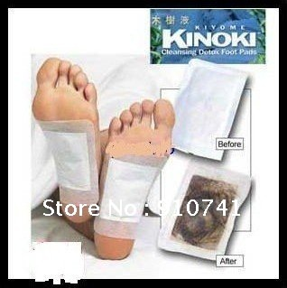Free Shipping~ Kinoki Detox Foot Pads Patches with adhersive  100PCS  Absolutely authentic!!False one compensate ten !!