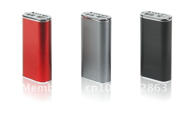 5200mAh Li-ion battery protable Power bank with LED torch for iPhone iPad mobile phone, Free Shipping