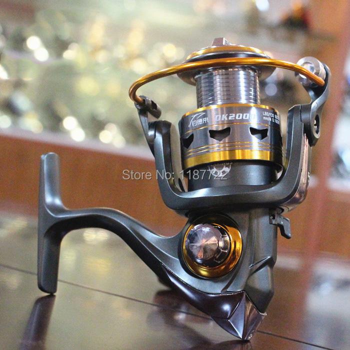 DK11 Bearing Spinning Fishing Reel Outdoor Bait Casting reel 5.2:1 2000 3000 4000 Series Spinning Reel Free Shipping(China (Mainland))