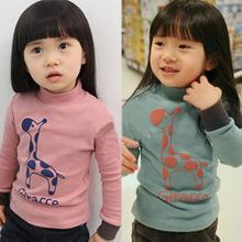 New Fashion Unisex Cotton spring Autumn Winter Cartoon boy girl Children Kids Turtleneck long Sleeve sweater