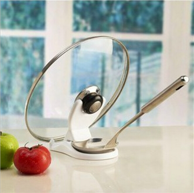 Free Shipping Spoon holder Pot Lid Shelf Cooking Tools Storage Kitchen Decor Tool Stand Holder rack New(China (Mainland))
