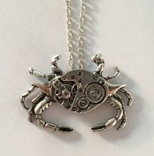 Vintage Crab Steampunk Watch Pincer Not Movement Pendant Necklace(China (Mainland))