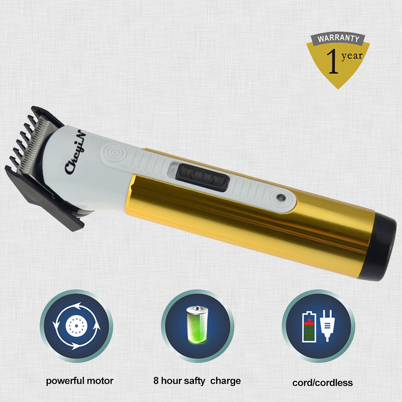 New Electric Hair Clipper Rechargeable Hair Trimmer Haircut Machine For Men & Children,Titanium Blade Color Gold 0.43-RCS45G(China (Mainland))