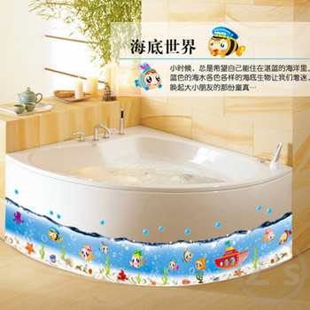 nemo fish cartoon for bath wall sticker for shower tile stickers in the bathroom for children. Black Bedroom Furniture Sets. Home Design Ideas