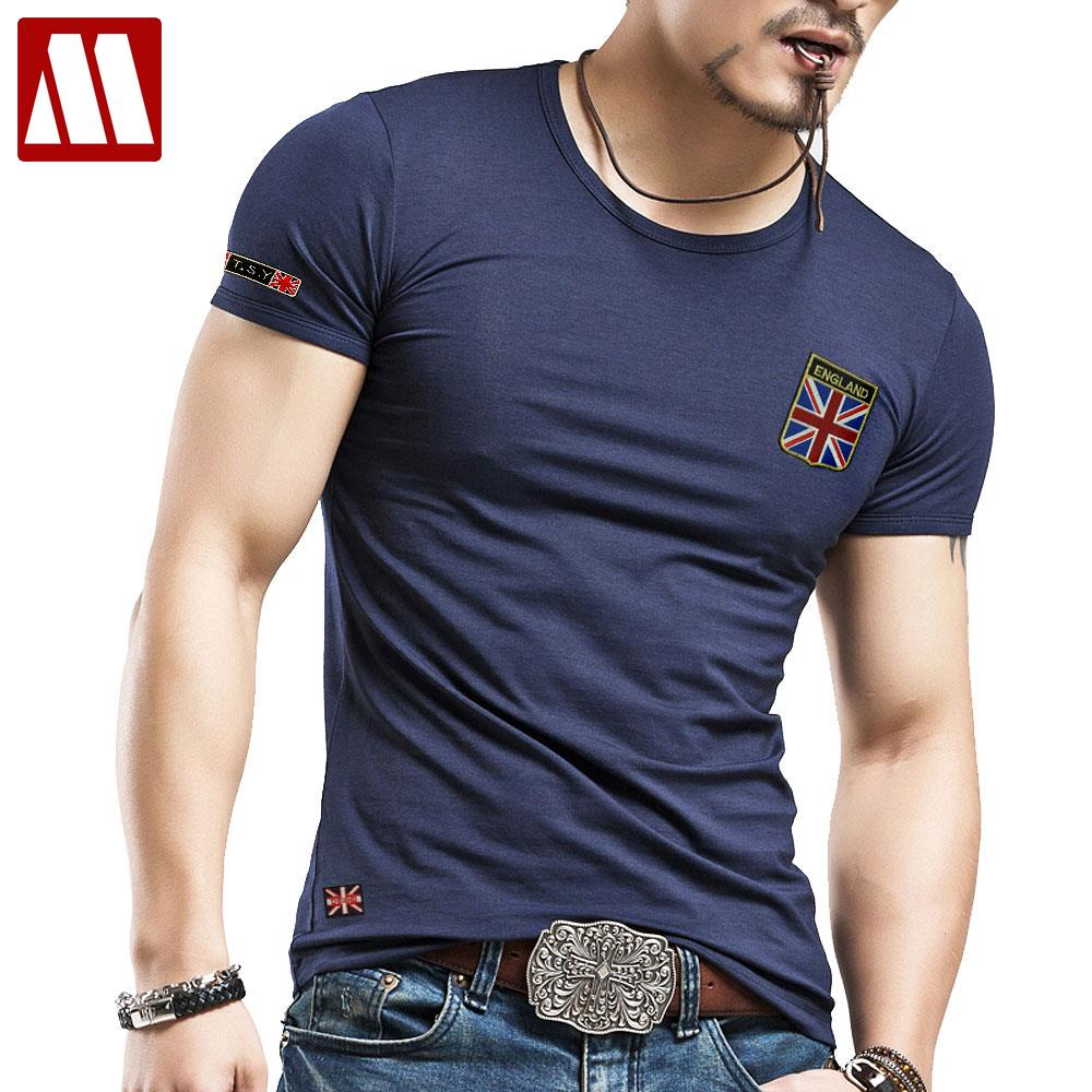 Men's British M Union Jack flag T shirt O neck short sleeve Casual T shirts United Kingdom men fashion trends t-shirt Men 5XL(China (Mainland))