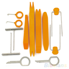 1 Set 12Pcs Plastic Car Radio Door Clip Panel Trim Dash Audio Removal Pry Tool Repairing 1U7Q 32C4(China (Mainland))