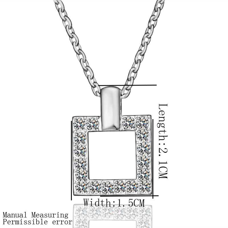 Free Shipping Best Gift 18K Gold Plating pendant necklace gray square perfume women bijoux women(China (Mainland))