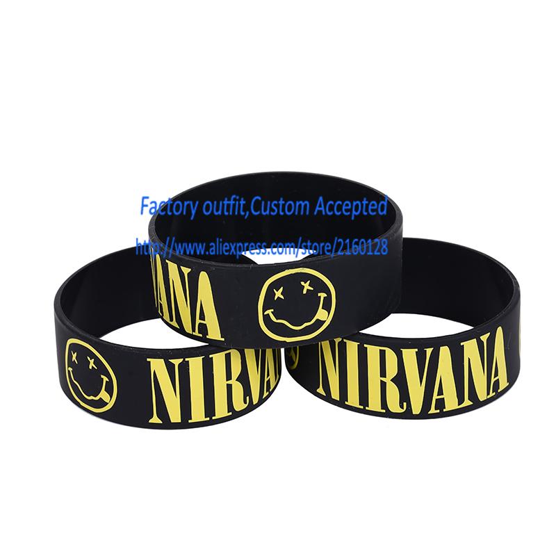 free shipping/ NIRVANA Wrist Band/ Silicone bracelet/1 inch Silicone wrist band(China (Mainland))