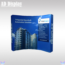 10ft Trade Show Booth High Curved Stretch Tension Fabric Banner Pop Up Display Stand With Single Side Graphic (Include End Cap)(China (Mainland))