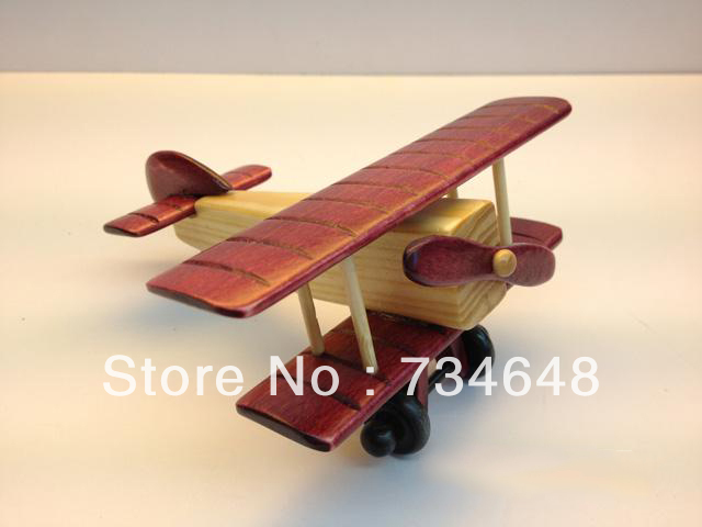 Handmade Wooden Decorative Home Accessory Vintage Fighter Plane Model Combo (4pcs)(China (Mainland))