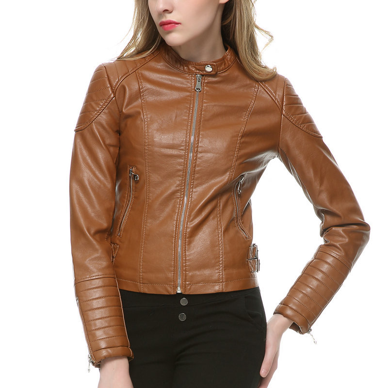 Popular Womens Brown Biker Jacket-Buy Cheap Womens Brown Biker ...