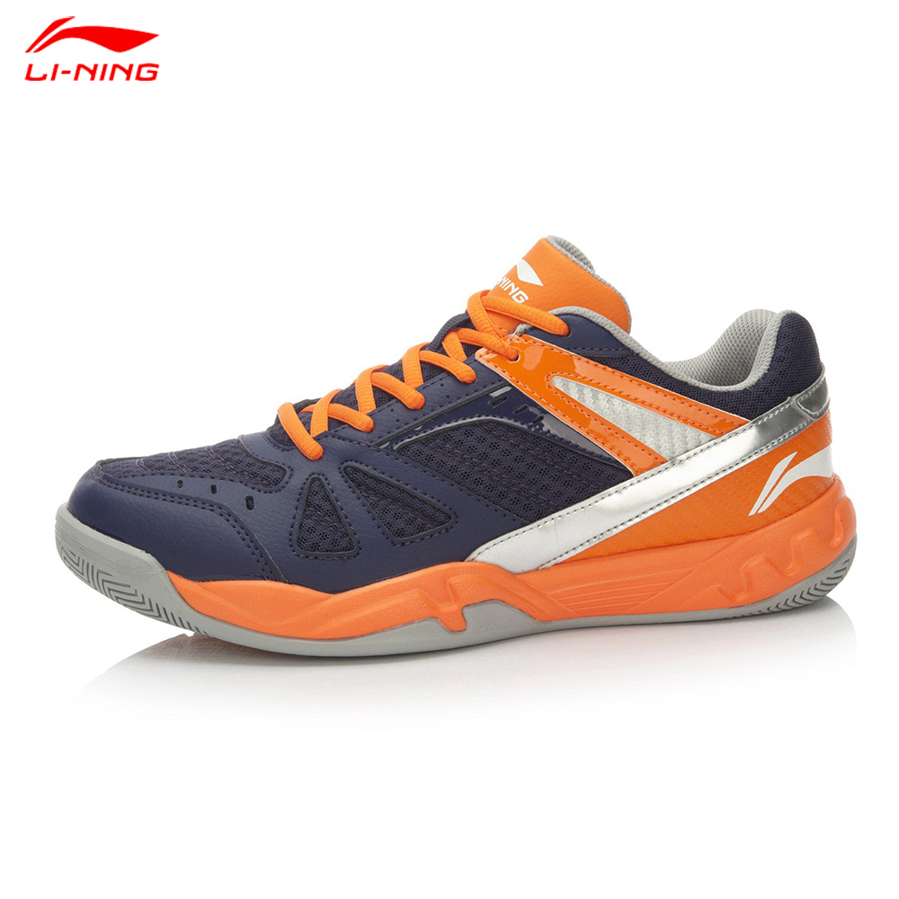 Li-Ning Men Professional Badminton Shoes Shock-Absorbant Anti-Slippery Breathable Light Weight Sports Shoe Lining AYTL047(China (Mainland))