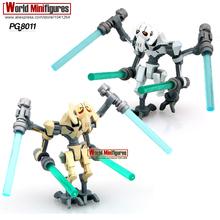 PG8011 General Grievous 2pcs/lot With Lightsaber w/gun Star Wars 7 Minifigures Building Block Best Children Gift Toys(China (Mainland))