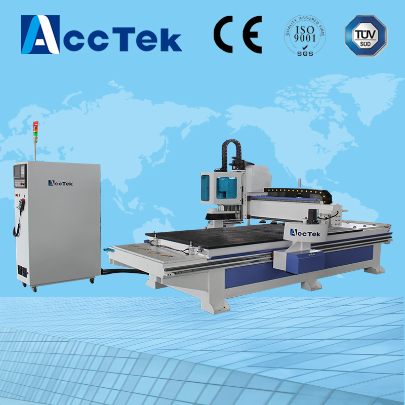 Automatic unloading pusher carving CNC Router 4*8 feet/furnitures making Auto feeding cnc machine(China (Mainland))