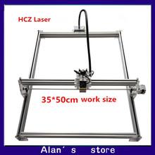 Laser 35 * 50cm large area 5500 mw laser engraving machine DIY mini engraving machine 5.5 w laser module laser cutter machine
