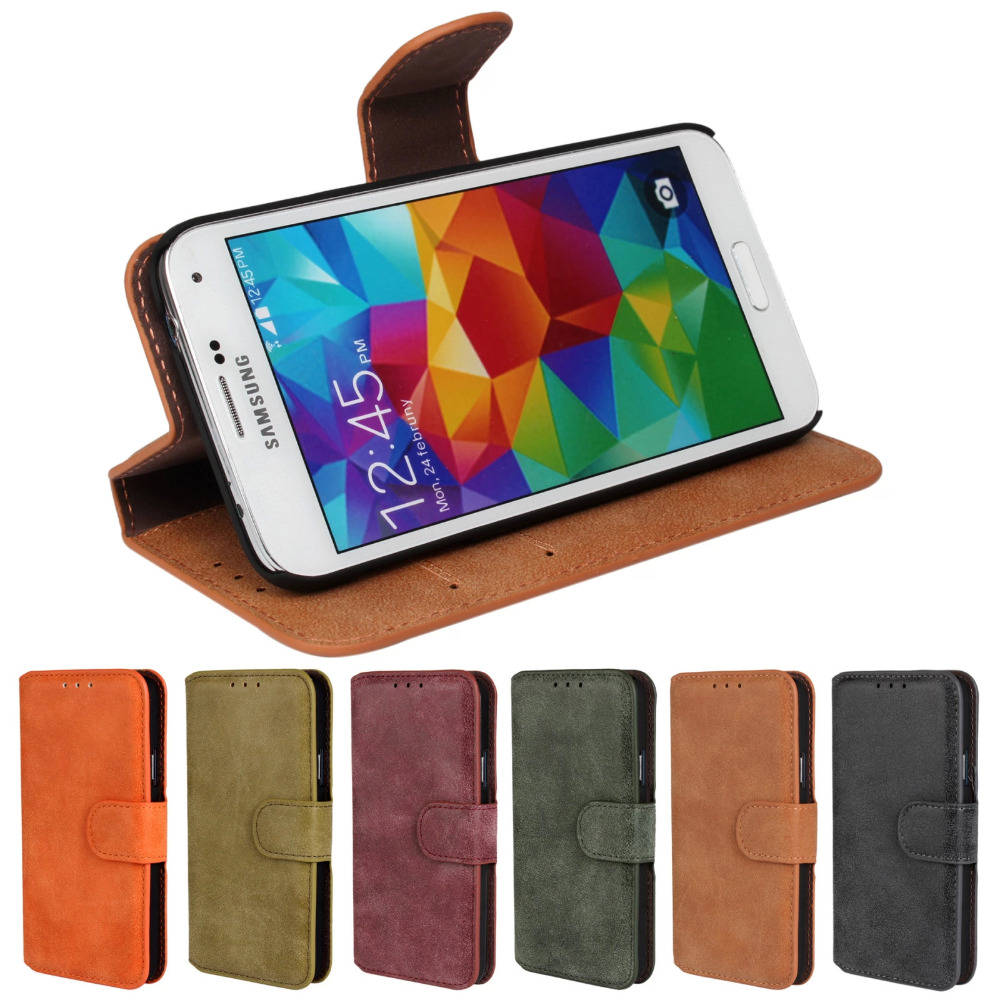 luxury frosted leather For Samsung S5 Flip Cover for Samsung Galaxy S5 Case Wallet SV I9600
