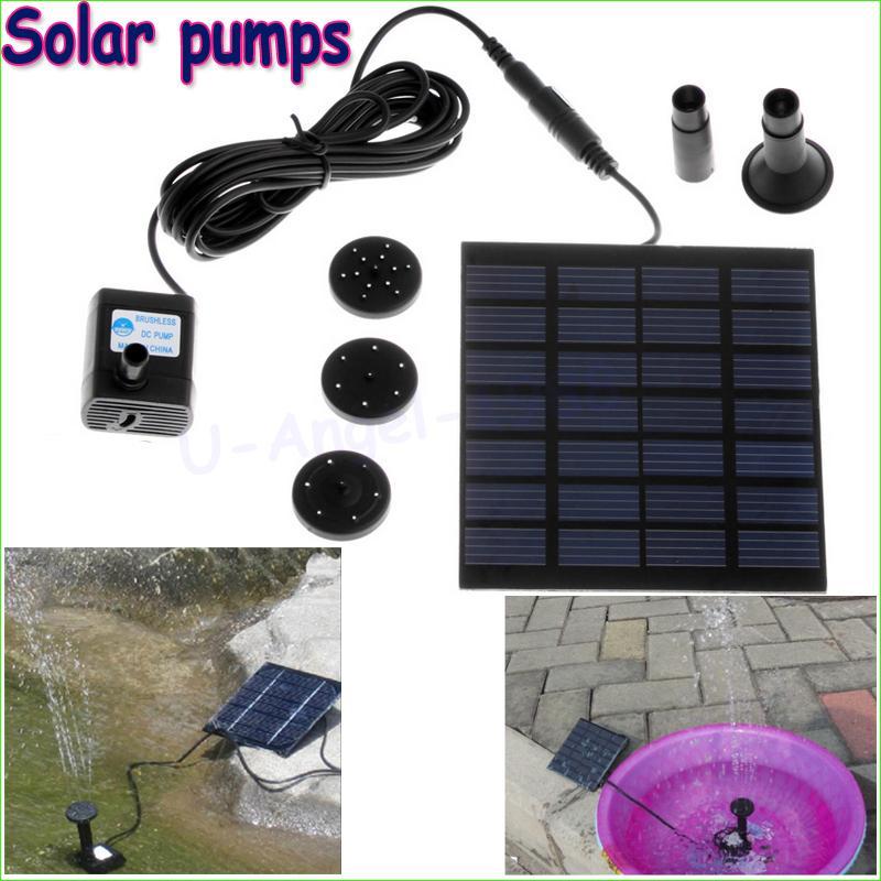 Wholesale 1pcs Solar Power Water Pump Garden Sun plants watering outdoor water Fountain Pool Garden sprinklers(China (Mainland))