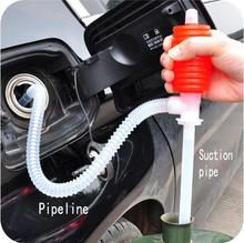 Useful Car pumping suction tube Manual Pumping Oil Pump Liquid Plastic Suction Pipe fish tank changing water suction device(China (Mainland))
