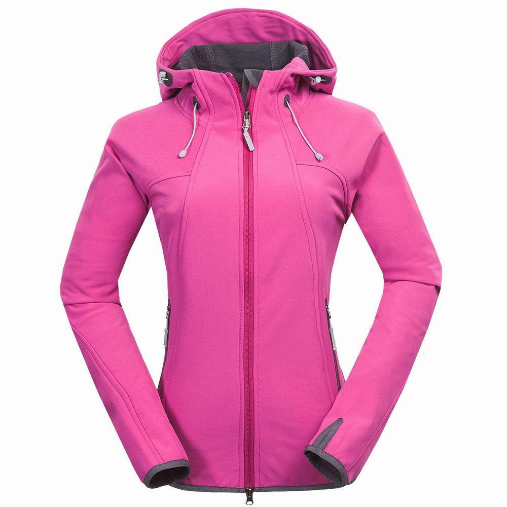 Mammoth  Softshell Fleece Jacket WOMEN Outdoor Windstopper Waterproof Windproof   Sports Clothing  Spring Camping Coat
