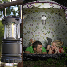 Gray Super Bright Lightweight 30 LED Camping Lantern Outdoor Portable Lights Water Resistant Camping Lighting Lamp(China (Mainland))