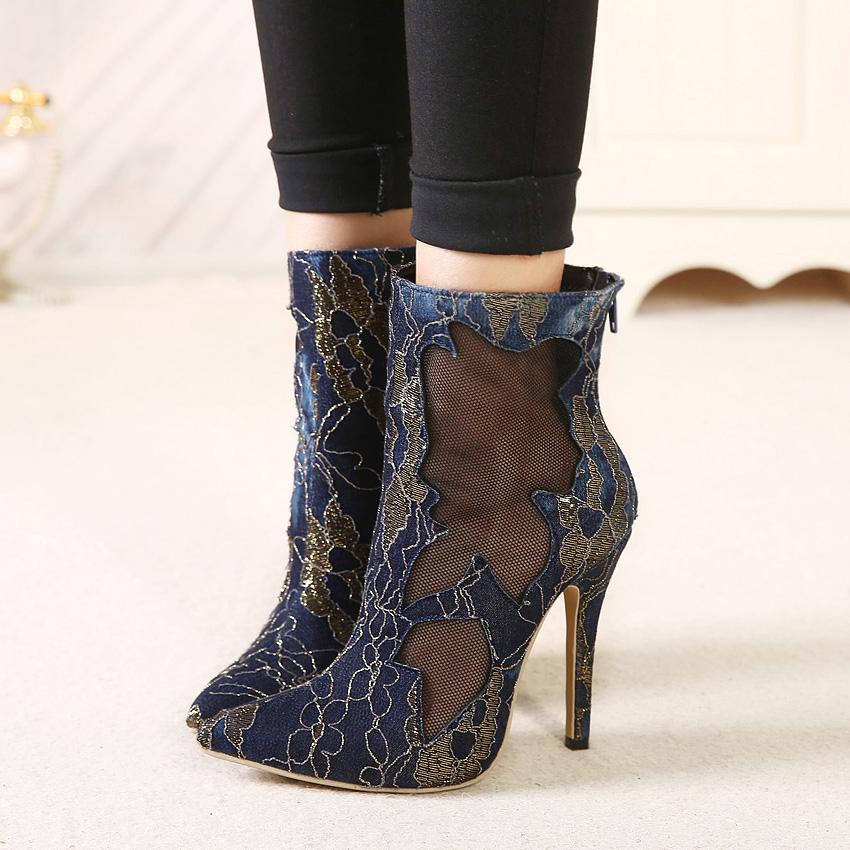 Женские ботинки Sapato feminino Toe