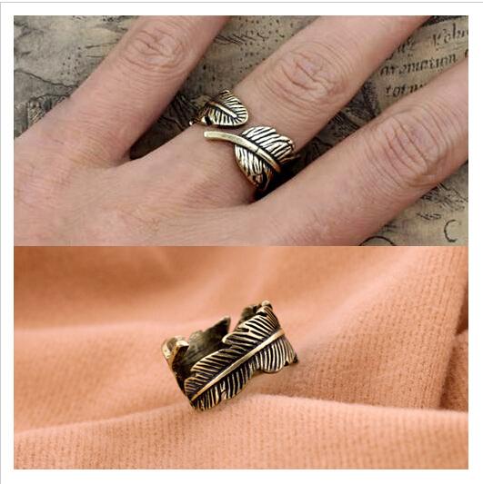 Чешского стиль ретро перо велосипедов-shaped женщин заявление кольца для женщин ну ...