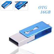 High quality Metallic Mirco OTG USB flash drive 16gb for OTG function Android Smartphone mini usb