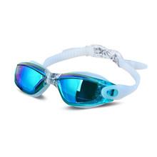 Galvanoplastia UV impermeable Anti niebla traje de baño Gafas de natación buceo Gafas de agua ajustables Gafas de natación mujeres hombres(China)