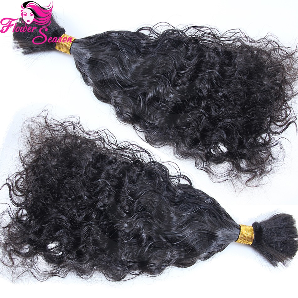 1 Piece High Quality Virgin Human Braiding Hair Bulk Natural Curly Bulk Hair For Braiding No Attachment Brazilian Virgin Hair