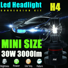 Buy H4 9003 HB2 12V 24V 30W 3000Lm Led Headlight Bulb Headlamp Kit 6000K White High Power Light Lamp Replace Xenon Hid Halogen Fog for $47.12 in AliExpress store