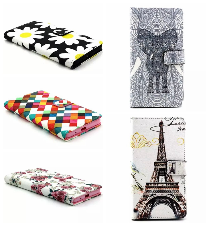 Top Quality Leather Case For Asus Zenfone 5 A500KL Flower Rose Dog Flip Cover Phone Wallet Cases Card Holder Holster(China (Mainland))
