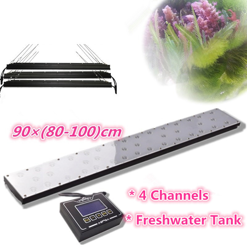 Special for fresh water plant, 3pcs 86cm panels side by side 270w / 3 ft programmable fish tank lighting with sunrise sunset(China (Mainland))