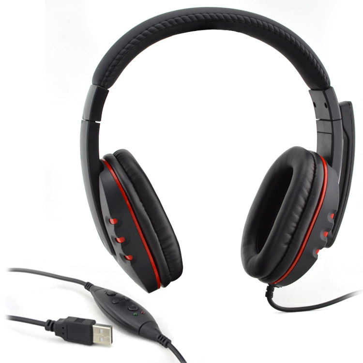 PRO USB Stereo Headphone Microphone with GAME Gaming Headset For PlayStation PS3 PS 3 PC MKLG Gaming Headphones