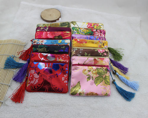 Wholesale10pcs Chinese Handmade Vintage Silk Coin Purse Jewelry Pouch Gift Bag(China (Mainland))