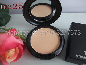 Professional wholesale powder!A Brand MC Makeup Studio Fix Powder cake Plus Foundation, compact foundat, face powder + puffs(China (Mainland))