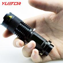 Brand Yuetor Led Mini Flashlight 2000LM Waterproof Cree Q5 3 Modes Zoomable AA 14500 Camping Fishing Hunting Bicycle Lanterna(China (Mainland))